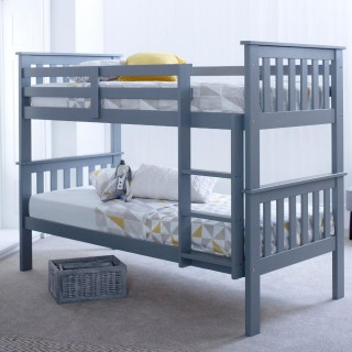 Atlantis Grey Wooden Bunk Bed Frame