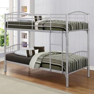Corfu Silver Finish Metal Bunk Bed
