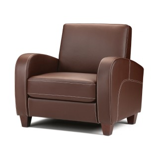 Vivo Brown Faux Leather Chair
