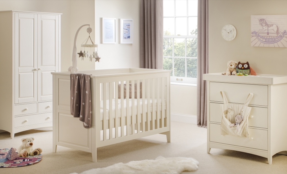 Cameo Stone White Wooden Nursery Furniture Collection