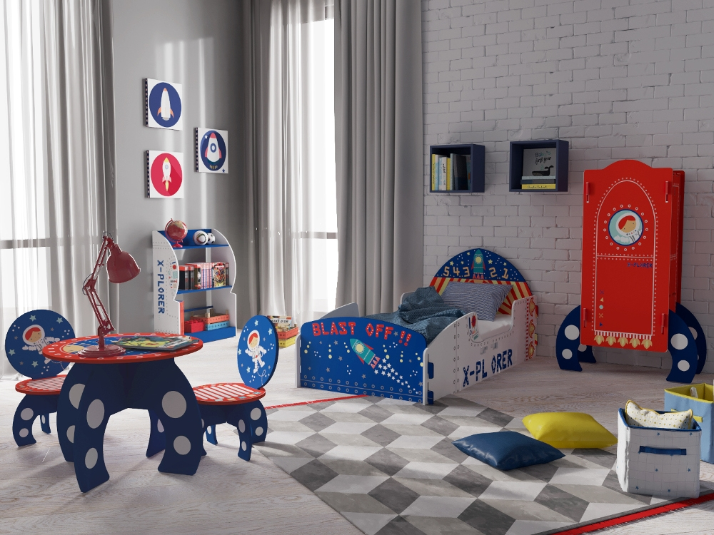 Explorer Rocket Ship Children S Wooden Bedroom Furniture Collection