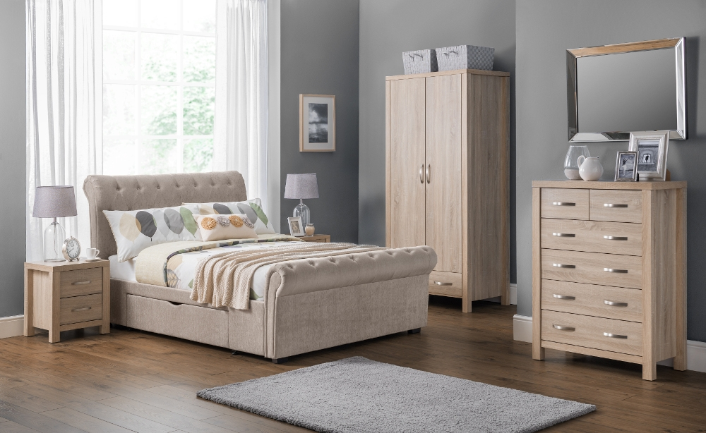 Hamilton Oak Wooden Bedroom Furniture Collection