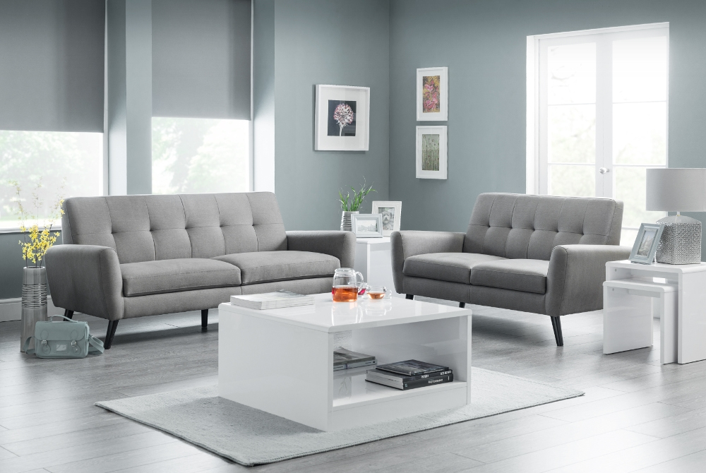 Monza Grey Fabric Furniture Collection