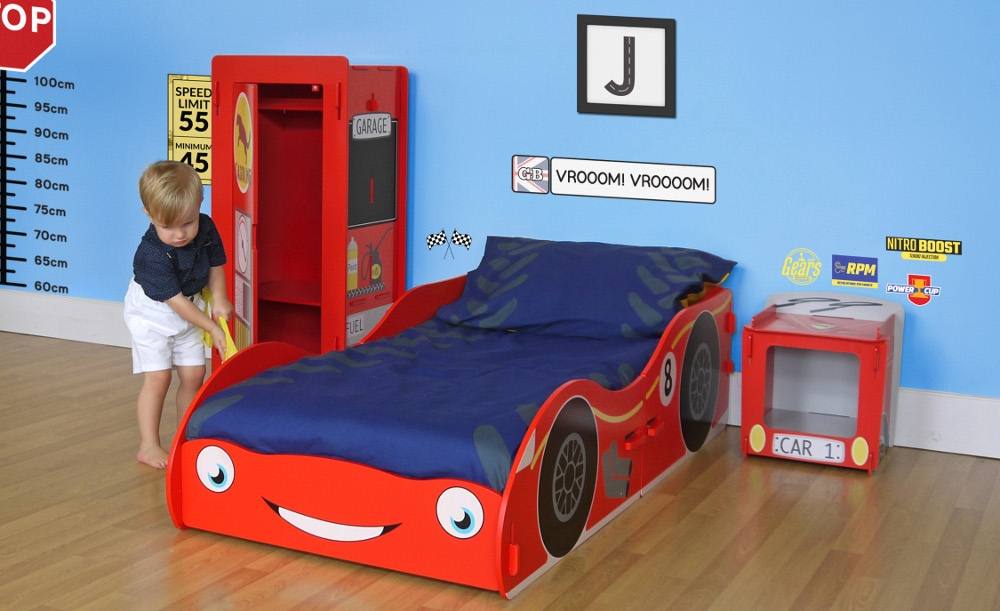 Racing Car Red Children's Wooden Bedroom Furniture Collection