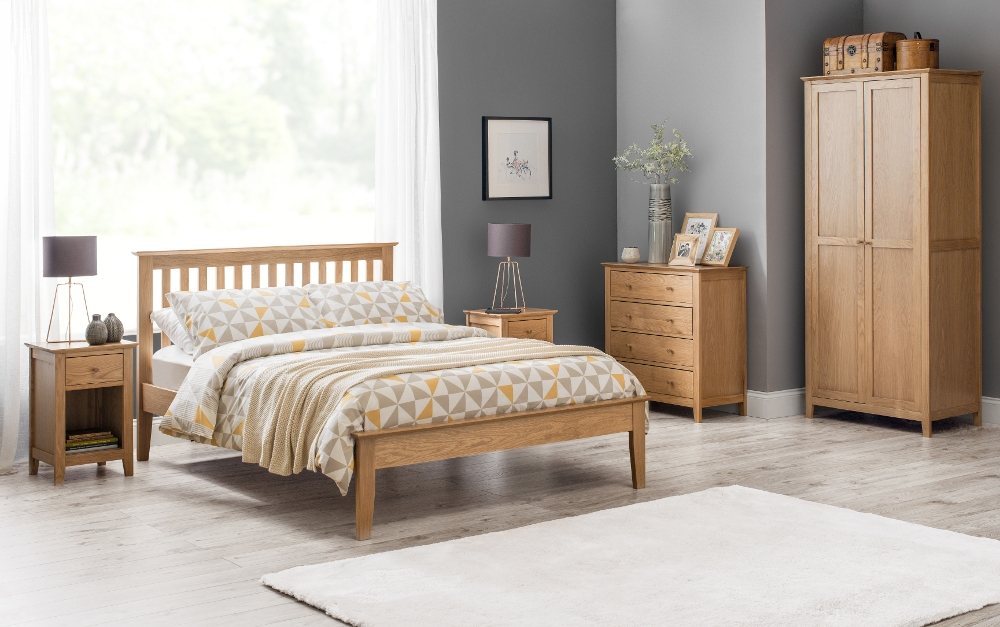 Salerno Oak Wooden Bedroom Furniture Collection