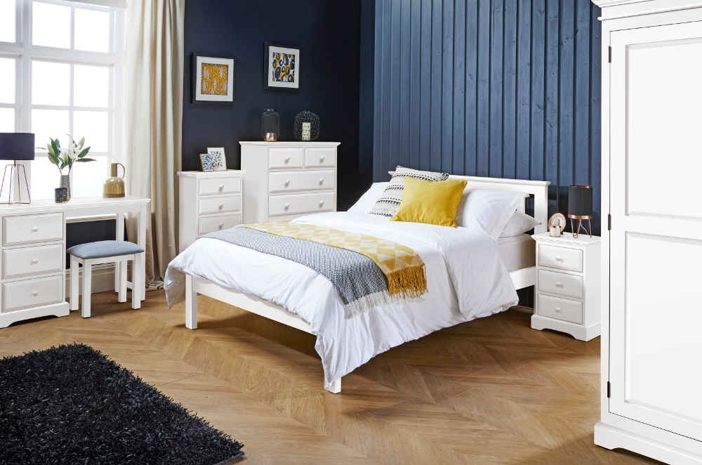 Suffolk White Wooden Bedroom Furniture Collection