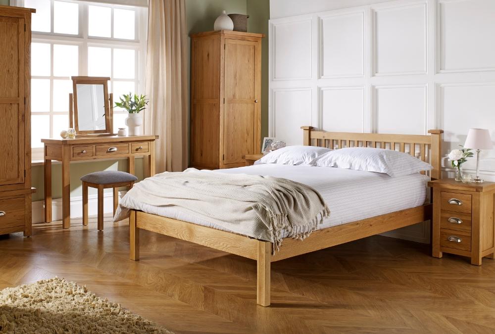 Woburn Oak Wooden Bedroom Furniture Collection