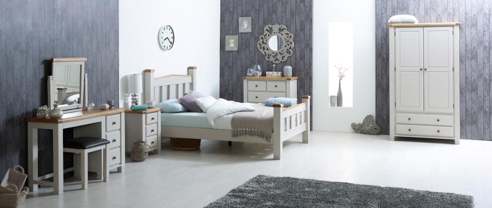 Woodstock Grey Wooden Bedroom Furniture Collection