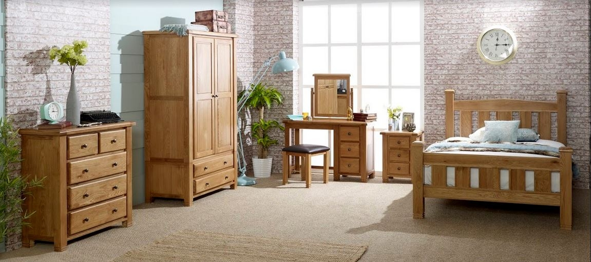 Woodstock Oak Wooden Bedroom Furniture Collection