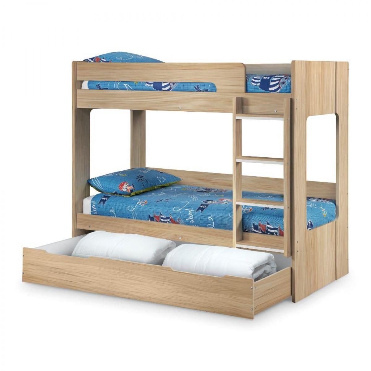 ellie oak wooden bunk bed and trundle guest bed underbed. Black Bedroom Furniture Sets. Home Design Ideas