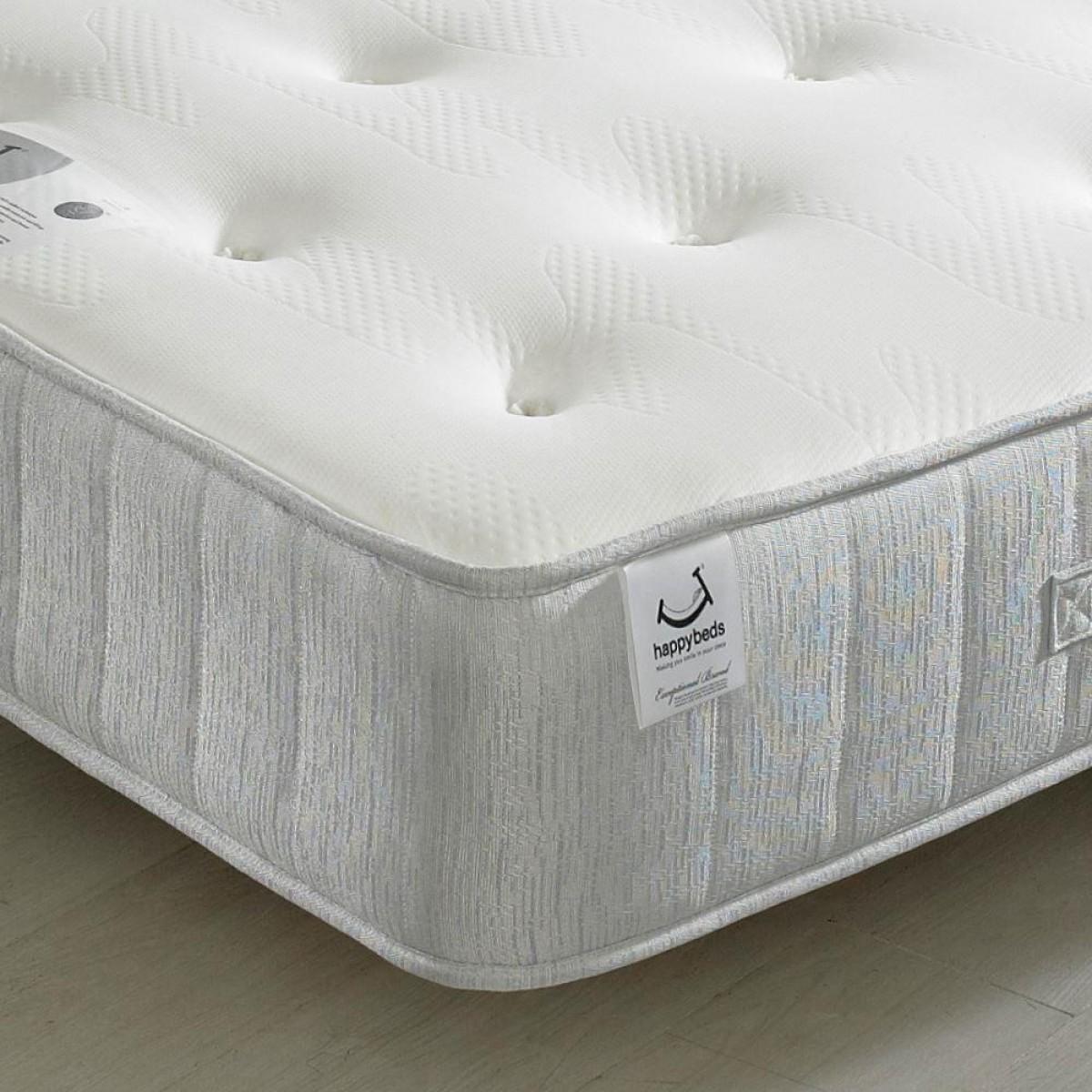 pearl contour spring memory foam tufted mattress 5ft king size 150 x 200 cm. Black Bedroom Furniture Sets. Home Design Ideas
