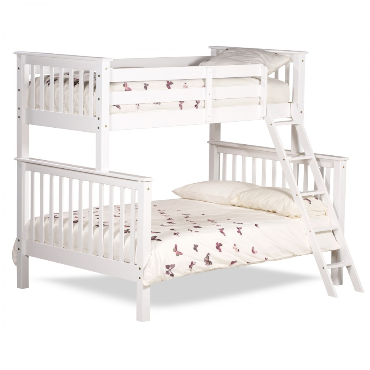chiltern white wooden triple sleeper bunk bed. Black Bedroom Furniture Sets. Home Design Ideas