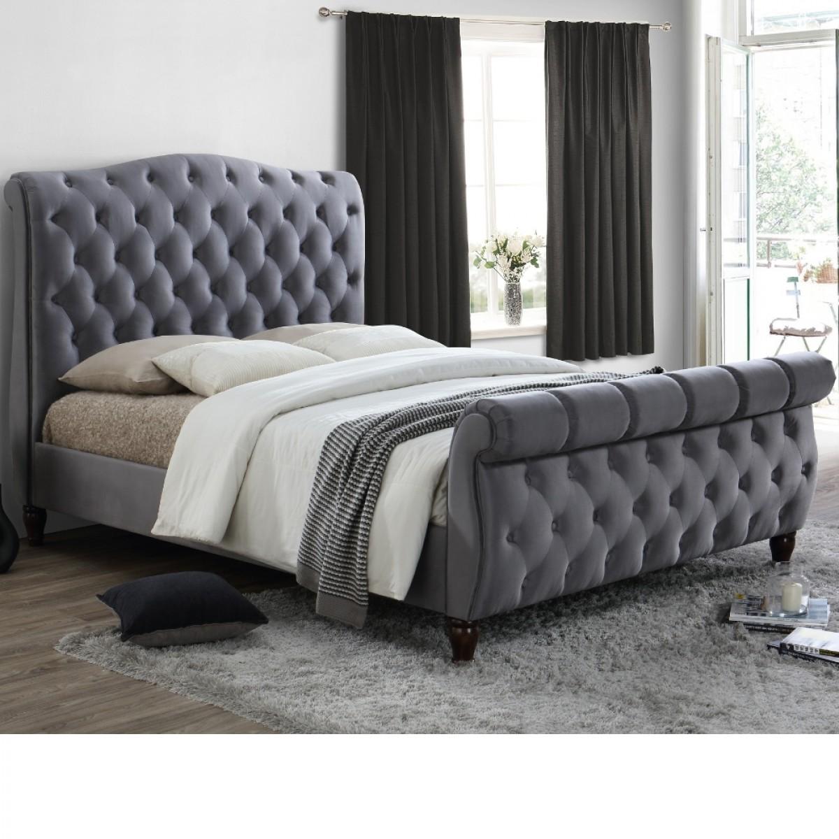 upholstered sleigh beds. Upholstered Sleigh Beds