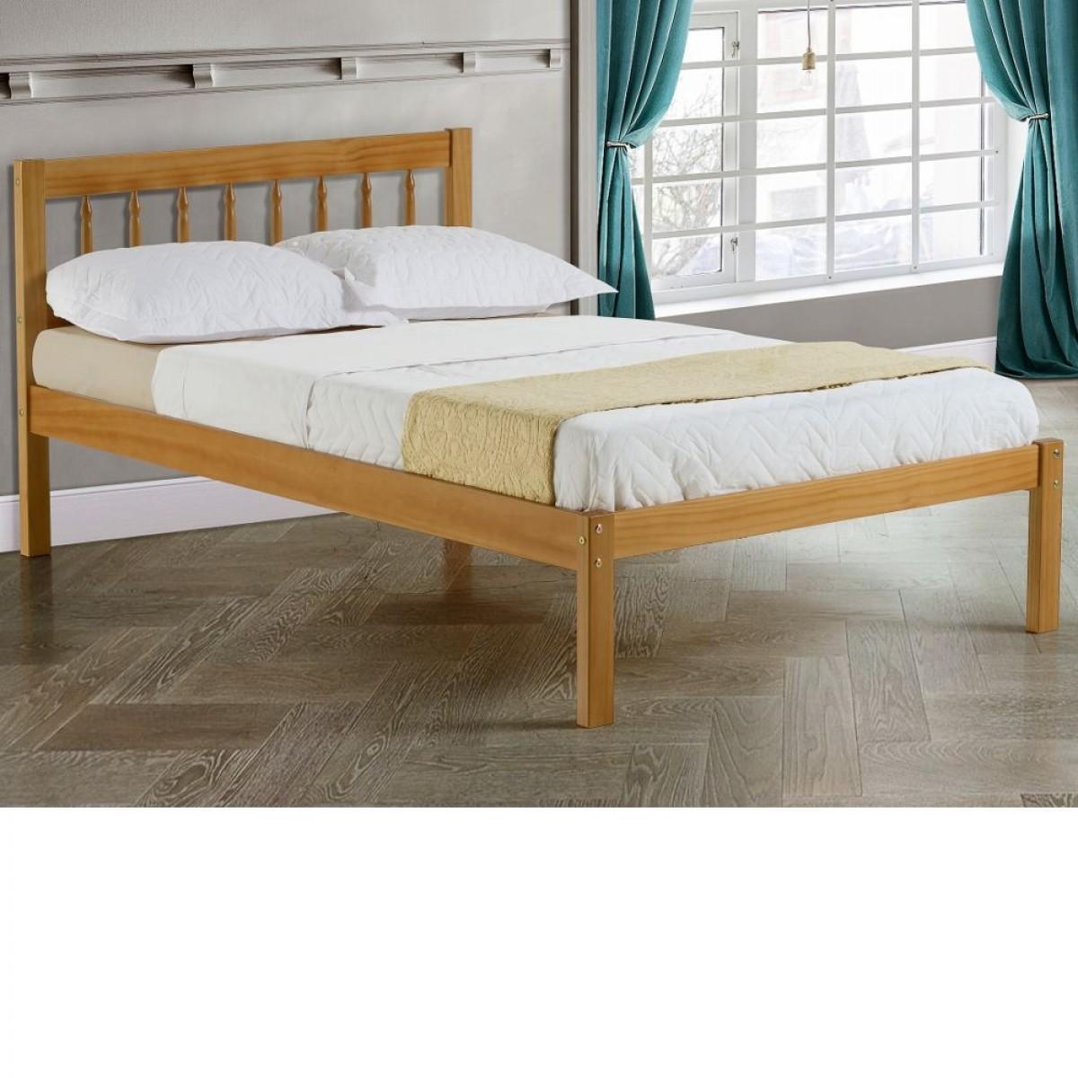 santos antique solid pine wooden bed frame 3ft single. Black Bedroom Furniture Sets. Home Design Ideas