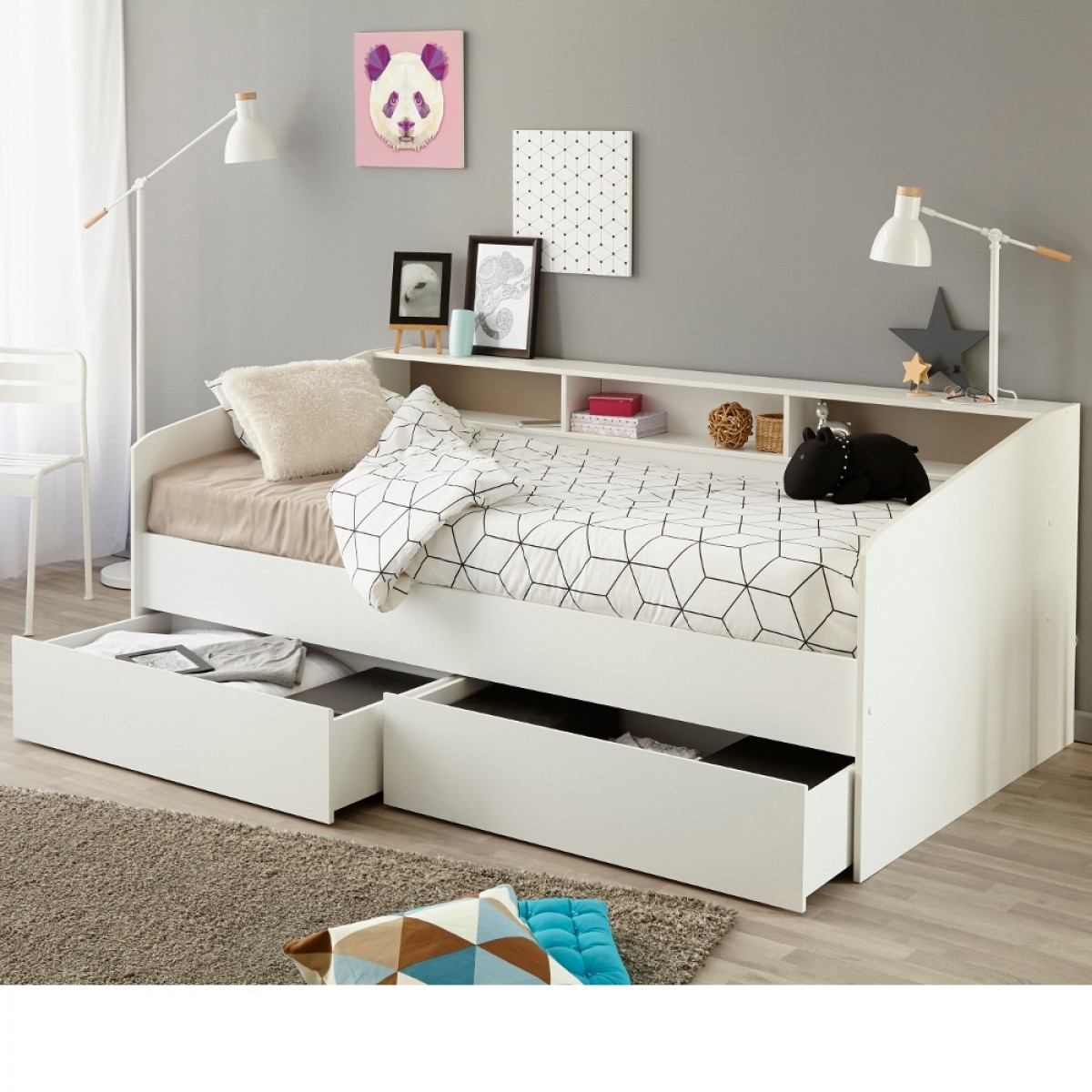 Sleep White Wooden Day Bed