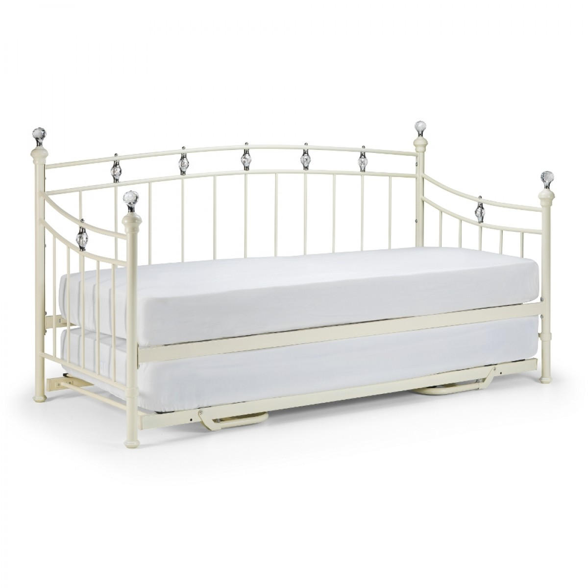 Sophie stone white metal guest bed