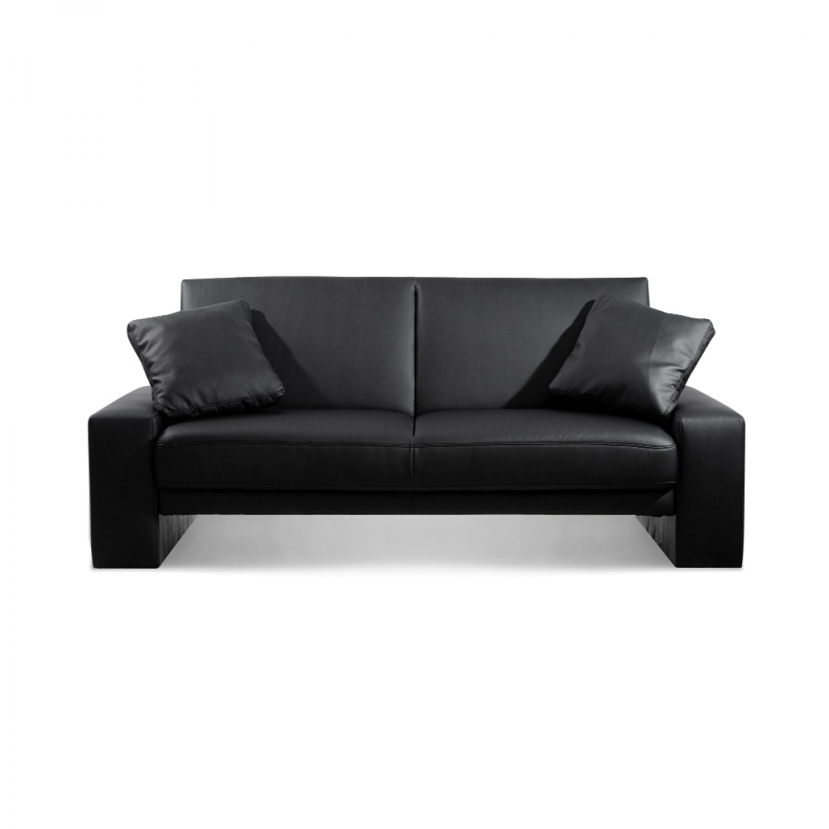 Supra Black Faux Leather Sofa Bed