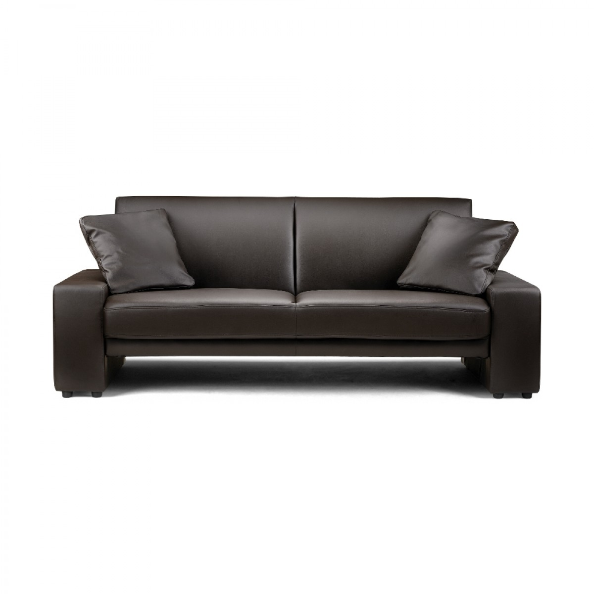 supra brown faux leather sofa bed. Black Bedroom Furniture Sets. Home Design Ideas