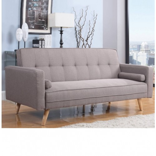 Sofa Bed Latex Mattress: Ethan Grey Fabric Sofa Bed