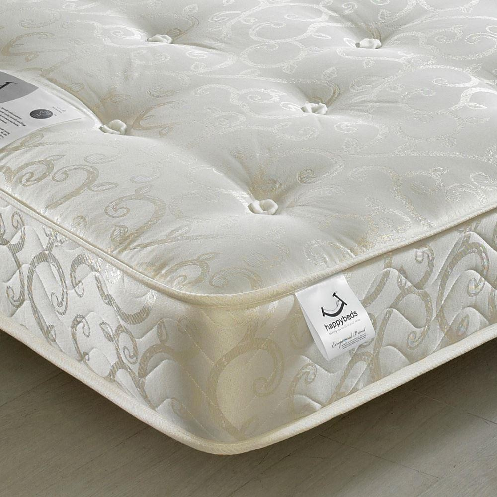 Gold Tufted Orthopaedic Spring Mattress 4ft Small Double