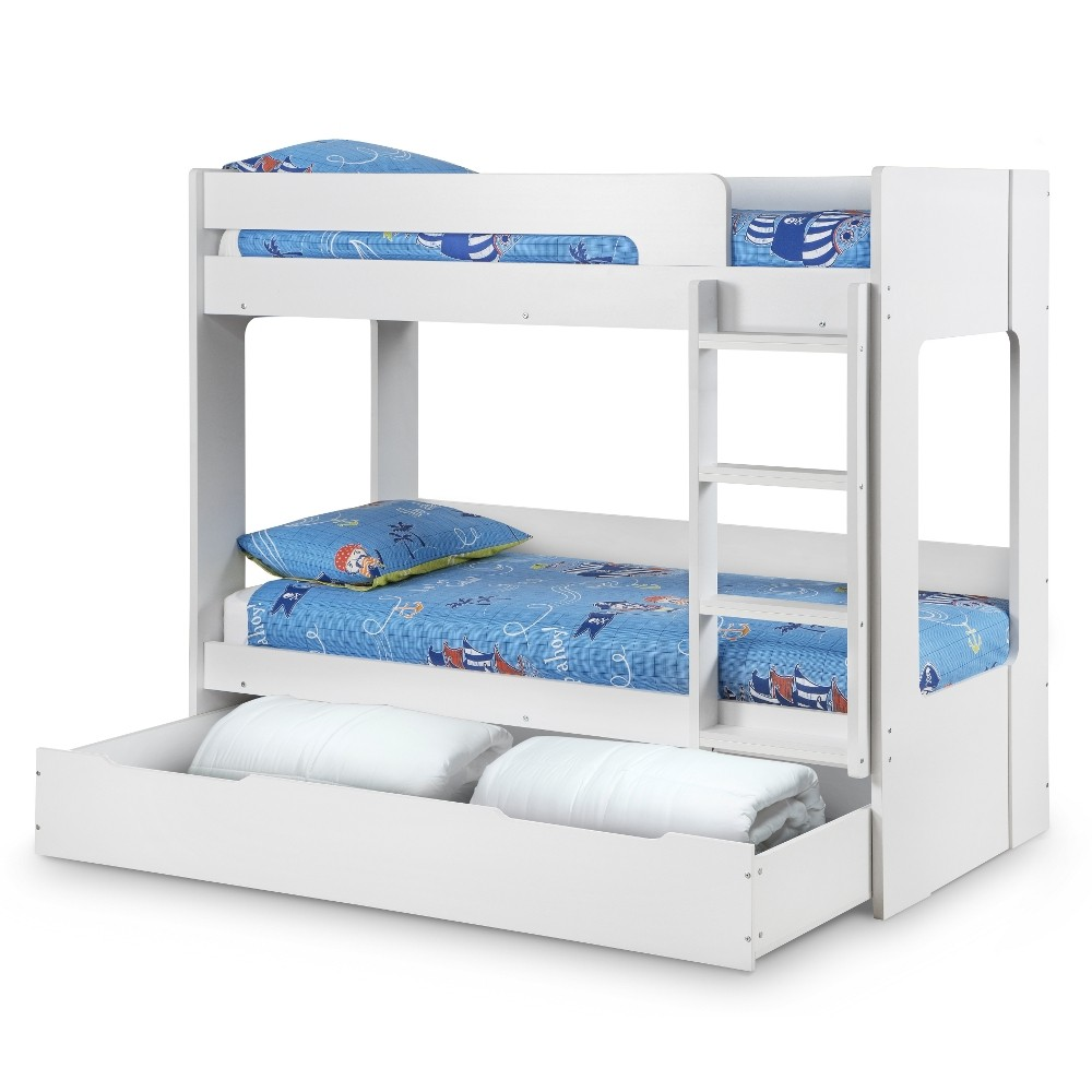 trundle beds with storage ellie white wooden bunk bed and trundle guest bed underbed 17585