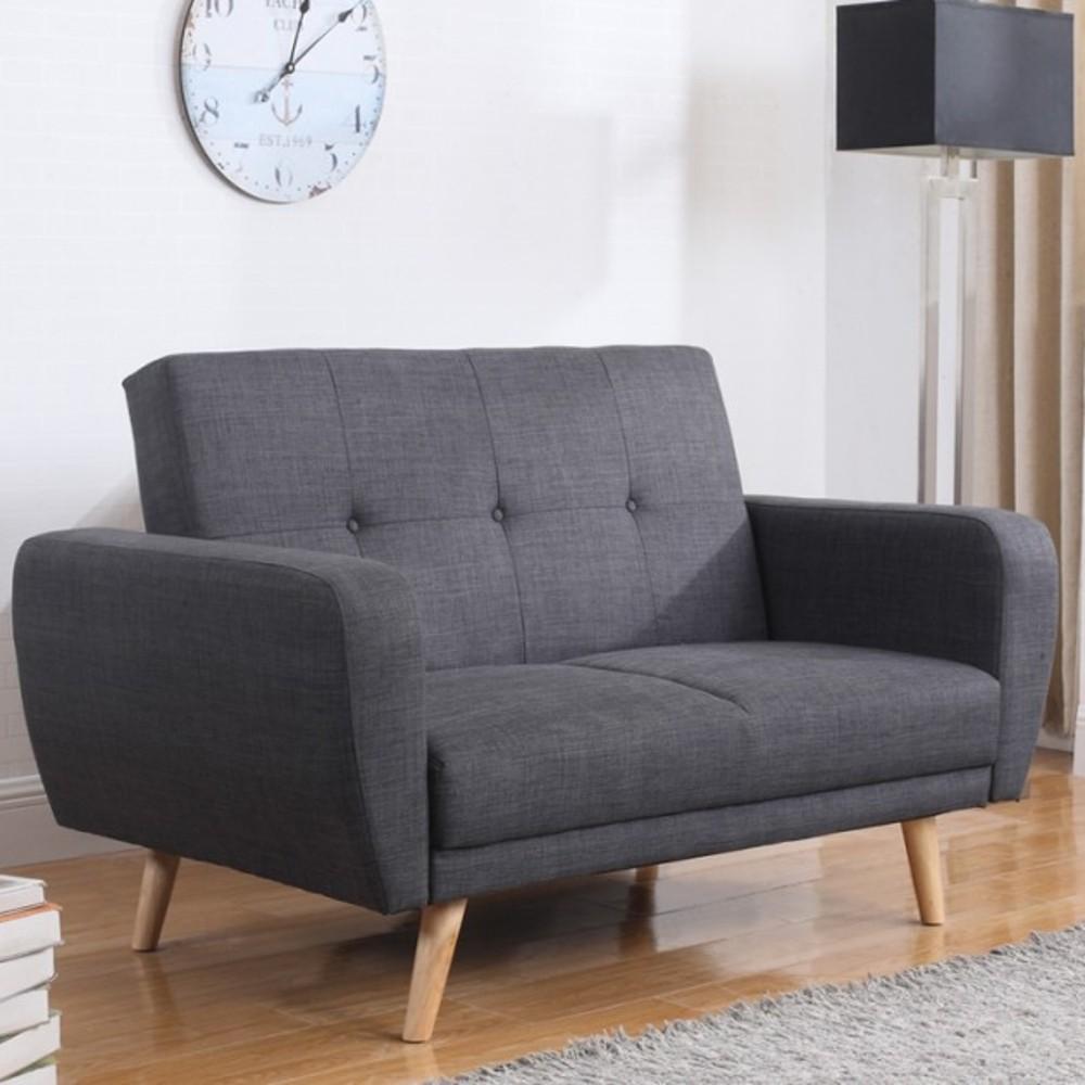 Ordinaire Farrow Grey Fabric Sofa Bed. Clio Small Double