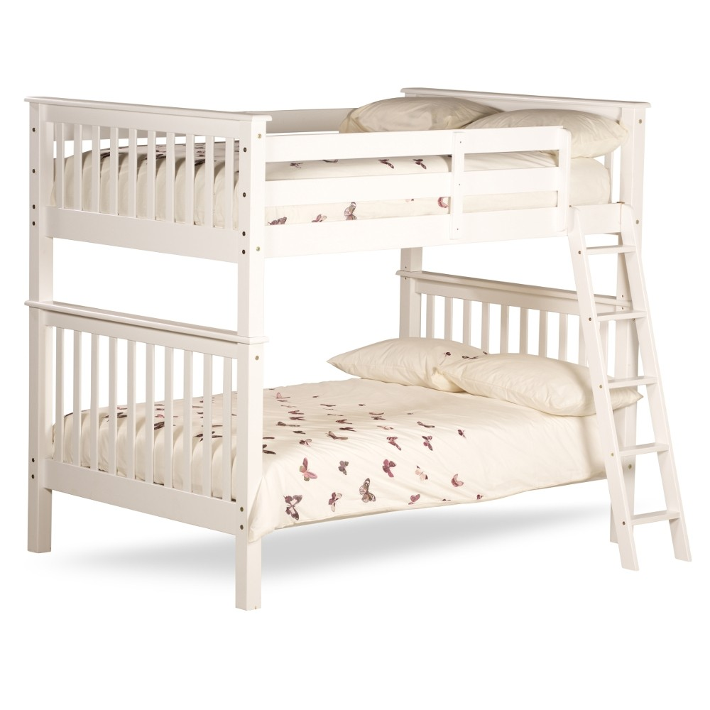 Malvern White Wooden Quadruple Sleeper Bunk Bed Frame 4ft Small Double