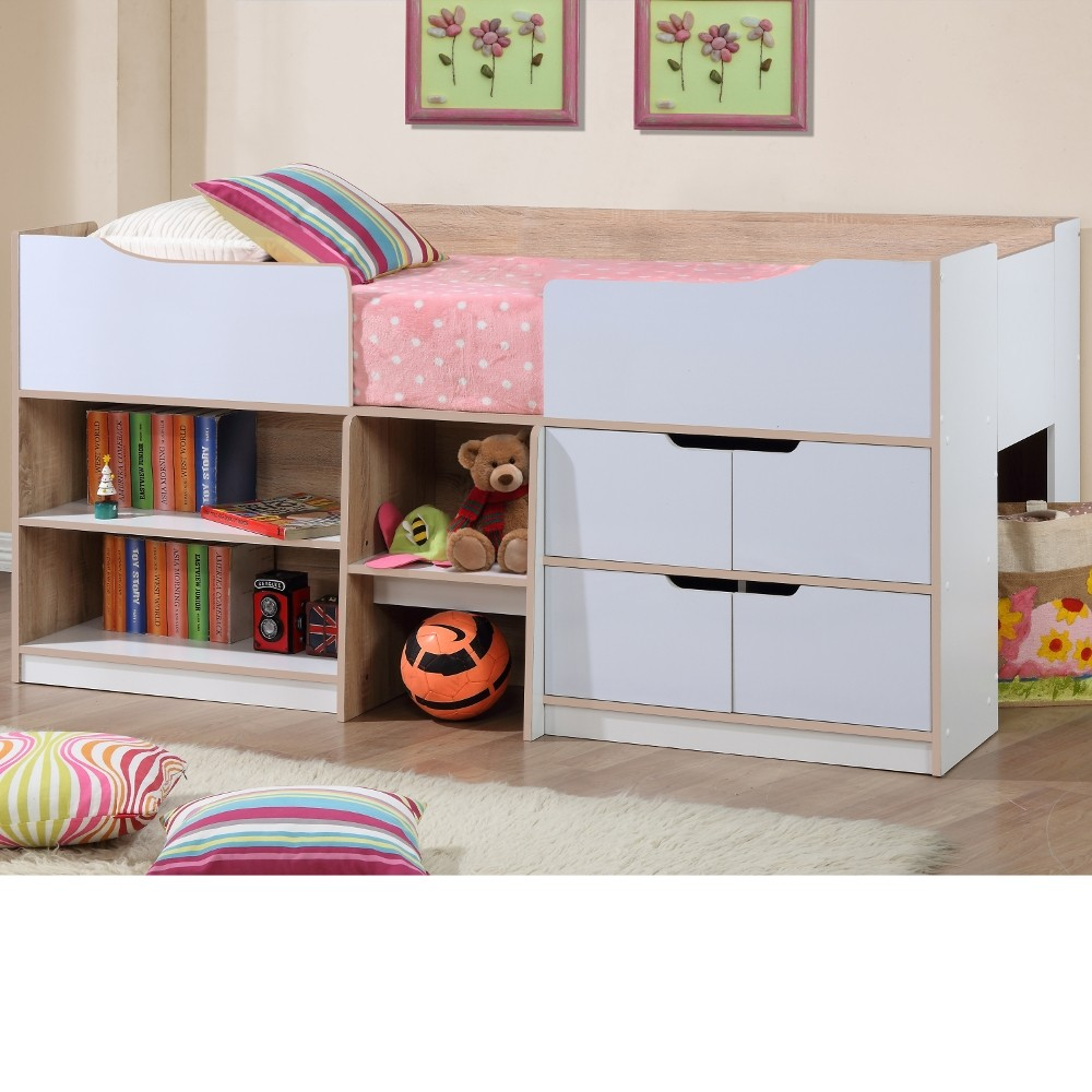 bedroom storage off with single bedrooms beds trundle modern trundles kids rrp sale frame white timber size furniture bed drawers childrens