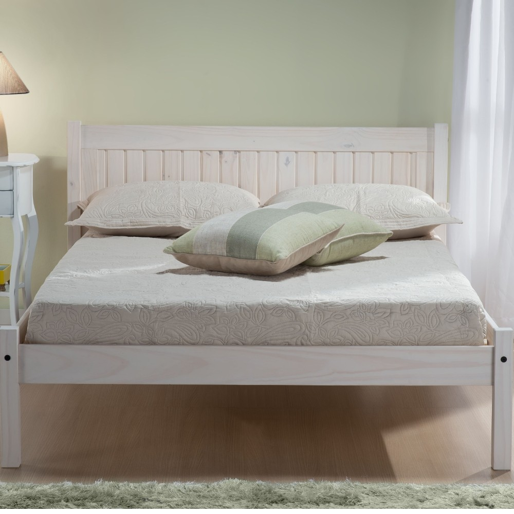 Rio White Washed Wooden Bed Frame 3ft Single