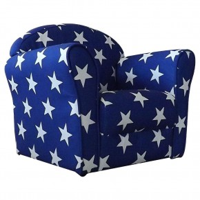 Children's Blue and White Stars Mini Armchair