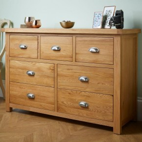 Woburn Oak Wooden 4+3 Drawer Chest