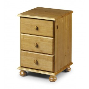 Pickwick Antique Pine 3 Drawer Bedside Table