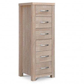 Hamilton Oak 6 Drawer Narrow  Chest