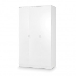 Manhattan White 3 Door Wooden Wardrobe