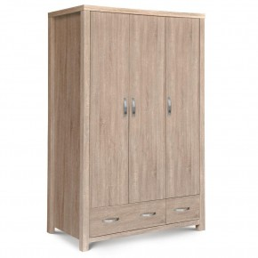 Hamilton Oak 3 Door Combination Wardrobe