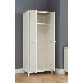 Salerno Ivory and Oak Wooden 2 Door Wardrobe