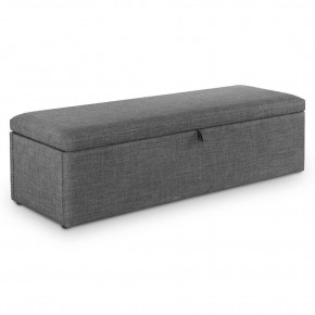 Sorrento Grey Fabric Blanket Box