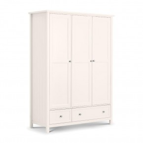 Maine White 3 Door Wooden Combination Wardrobe