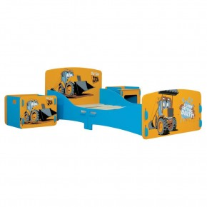 JCB Yellow Children's Digger Room in a Box Toddler Bed