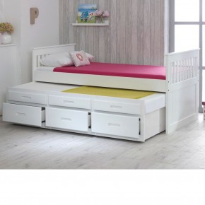 Captains White Wooden Guest Bed