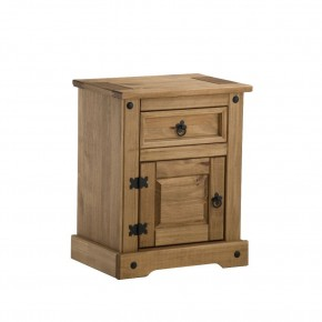 Corona Pine 1 Drawer Bedside Table