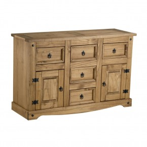 Corona Pine 2 Door 5 Drawer Sideboard
