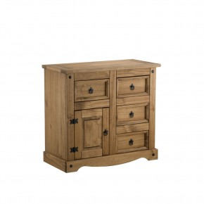 Corona Pine 1 Door and 4 Drawer Chest