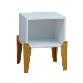 Solar Joybox White and Oak Wooden Bedside Table