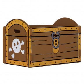 Pirate Ship Blue and Brown Childrens Treasure Chest