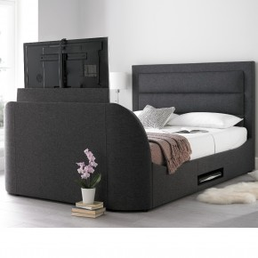 Hollywood Gabon Grey Fabric TV Bed