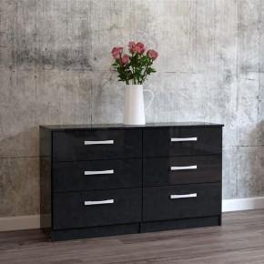 Lynx 6 Drawer Chest Black