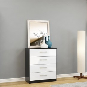 Lynx 4 Drawer Chest Black and White