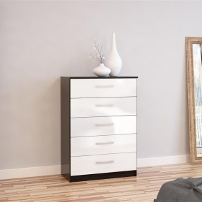 Lynx 5 Drawer Chest Black and White