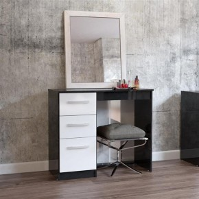 Lynx 3 Drawer Dressing Table Black and White